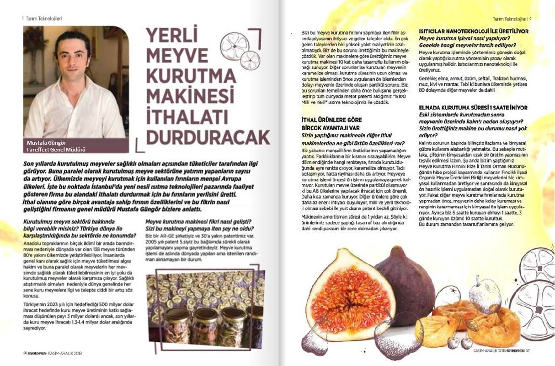 FAREFFECT - Türk Tarım Orman Dergisi