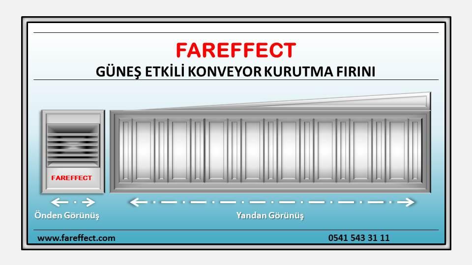 Fareffect güneş etkili konveyor kurutma fırını